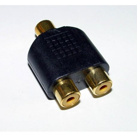 Adaptor - 2 RCA Sockets to 1 RCA Socket