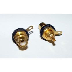 Adaptor - RCA JACK - Black/Gold
