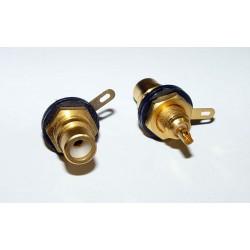 Adaptor - RCA JACK - Black/Gold
