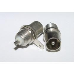 Adaptor - Plug 75ohm COAX CHASSIS MOUNT -Male