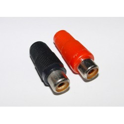 Adaptor - RCA Socket - Black and Red