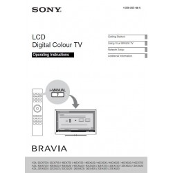 Sony Television Instruction Manual KDL32EX720