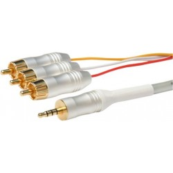 White Pearl Series - 1.5m 3.5mm to Audio / Video Lead