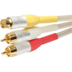White Pearl Series - 1.5m Audio to Super Video Lead