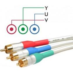 White Peal Series - Component RGB / YUV Video Lead