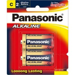 Battery C (R14) Alkaline Battery 2 Pack