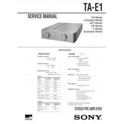 Sony TA-E1 Service Manual