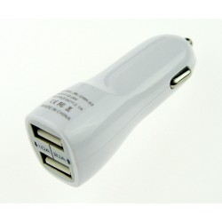 Universal Car USB Charger - White