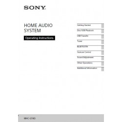 Sony Audio Instruction Manual MHC-GT4D