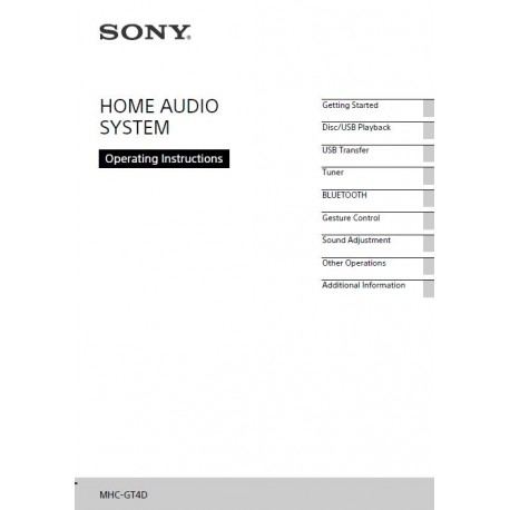 sony audio instruction manual mhc gt4d rh speedyspares com Owner's Manual User Manual