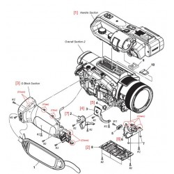 PXW-X70 Sony Camera Exploded Diagram