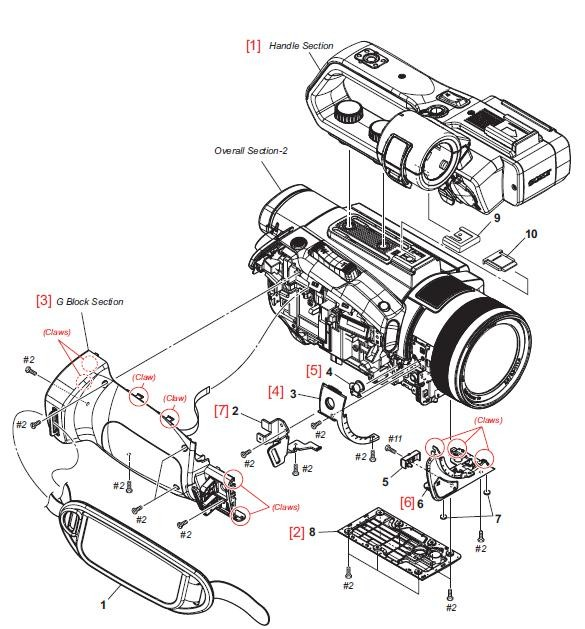 Pxw X70 Sony Camera Exploded Diagram