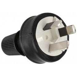 Power Cord Plug - 3 pin - BLACK