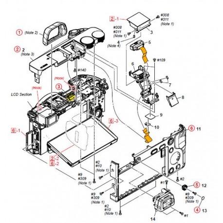 a6000 ilce6000 ilce6000y ilce6000l sony camera exploded diagram rh speedyspares com sony vaio parts catalog sony vaio parts catalog