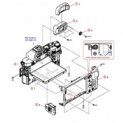 A77 / SLTA77V / A77K / A77L / A77M / A77Q / A77V / A77VK / A77VL / A77VM / A77VQ Sony Camera Exploded Diagram