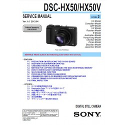 Sony DSC-HX50/50V Service Manual