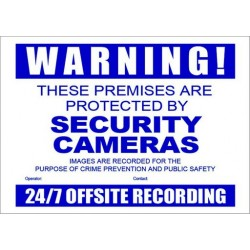 Warning Sign - A3 CCTV Secutiry