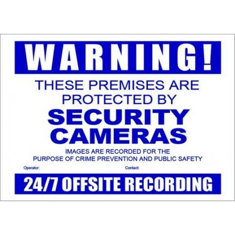 Warning Sign - A3 CCTV Secutiry