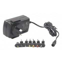 Multi Voltage AC Power Adaptor 30 Watts, 3-12Vdc