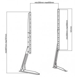 TV Stand multi - Legs to fit 13-70 inch LCD screen