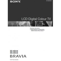 Sony Television Instruction Manual KDL32D3100 / KDL40D3100 / KDL46D3100