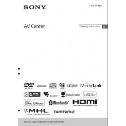 Sony Car Radio Instruction Manual XAV-742 / XAV-712BT / XAV-612BT / XAV-602BT