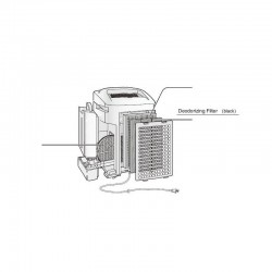 Sharp Air Purifier Deodorising Filter for KCA60JW