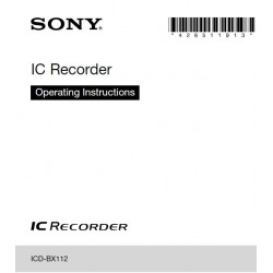 Sony Audio Instruction Manual ICDBX112