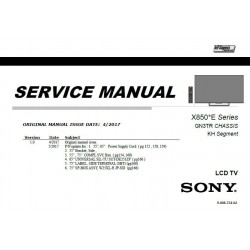 Sony KD-55X8500E / KD-65X8500E / KD-75X8500E TV Service Manual