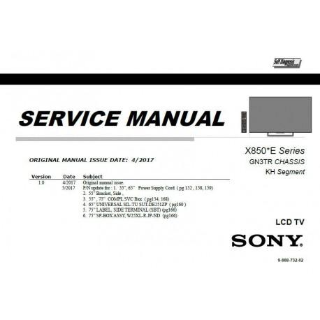Sony KD-55X8500E / KD-65X8500E / KD-75X8500E TV Service Manual
