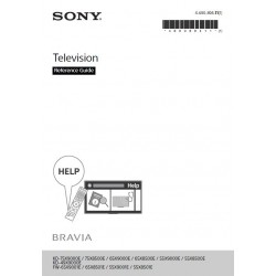 Sony Television Instruction Manual KD-75X8500E / KD-65X8500E / KD-55X8500E