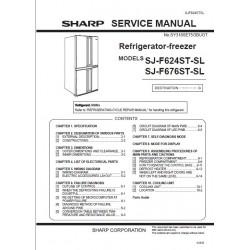 Sharp Refrigerator SJ-F624ST-SL / SJ-F676ST-SL Service Manual