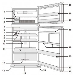 Sharp Refrigerator Exploded Diagram SJ-GJ584V-BK