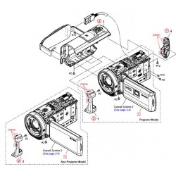 HDR-CX530E / HDR-CX535 / HDR-CX610E / HDR-PJ530E / HDR-PJ540 / HDR-PJ540E / HDR-PJ610E Sony Camera Exploded Diagram