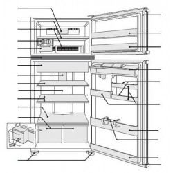 Sharp Refrigerator Exploded Diagram SJ-PD508S-HS / SJ-PD596S-HS / SJ-TD555S-S / SJ-TD555S-WH