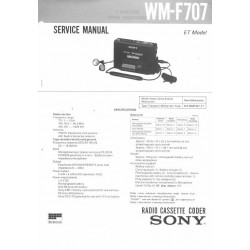 Sony WM-F707 Service Manual