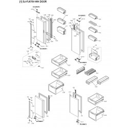 Sharp Refrigerator Exploded Diagram SJFJ676VWH