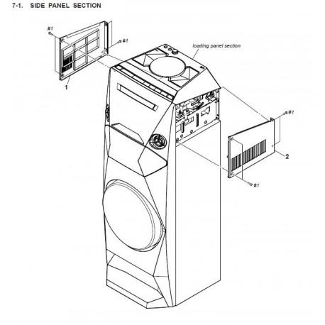 MHC-V3 / MHC-V4D  Sony Audio Exploded Diagram