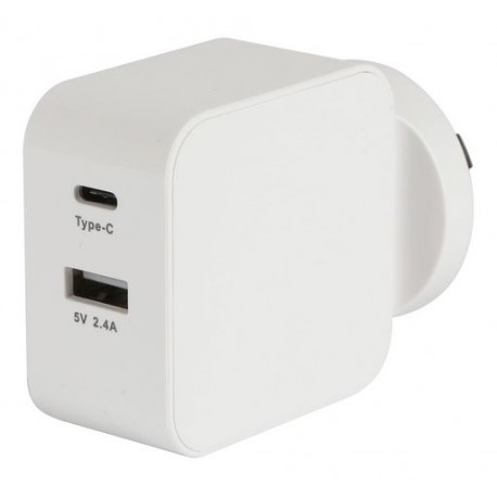 USB A & USB C AC Charger