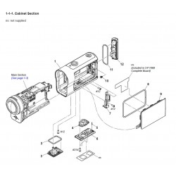 FDRX3000 / FDRX3000R / HDR-AS300 / HDR-AS300R Sony Camera Exploded Diagram