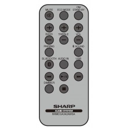 Sharp Audio RRMCGA342AW01 Remote for GX-BT7